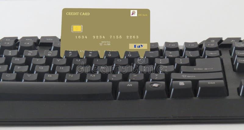 Haga fácilmente los pagos en línea cashless fotografía de archivo