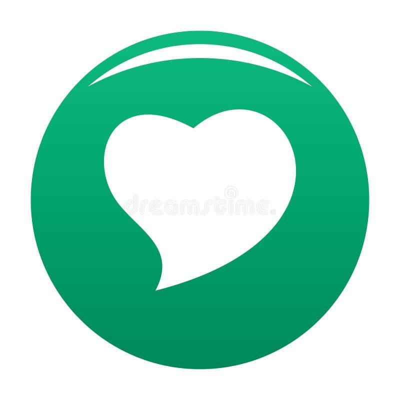 Haga frente al verde del vector del icono del corazón stock de ilustración