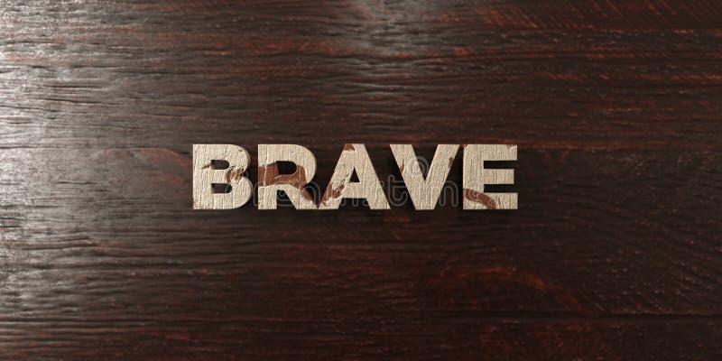 Haga frente a - título de madera sucio en arce - la imagen común libre rendida 3D de los derechos stock de ilustración