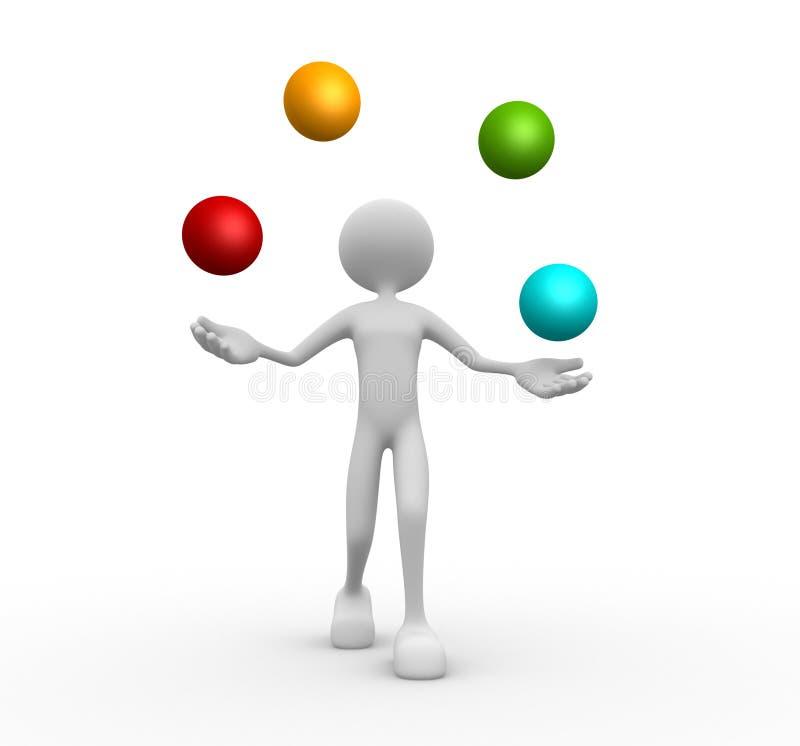 Haga juegos malabares con las esferas. Bolas libre illustration