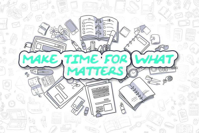 Haga la hora para qué materias - concepto del negocio stock de ilustración