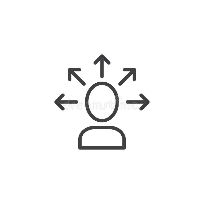 Haga la línea icono de la decisión stock de ilustración
