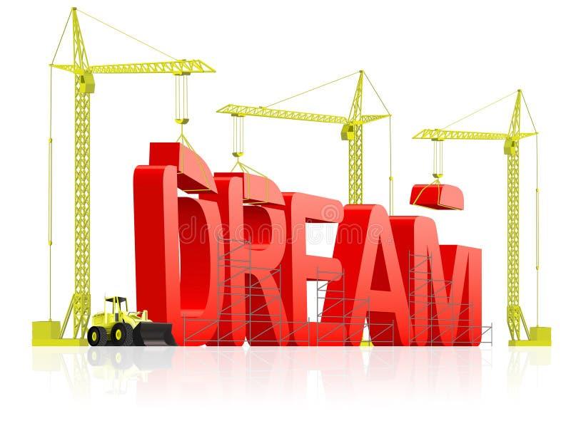 Haga que el sueño viene verdad realizan aspiraciones stock de ilustración