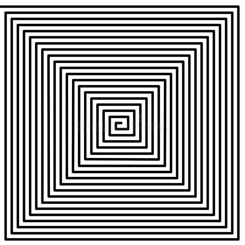 Haga un túnel, torció el espiral en el fondo blanco, modelo psicodélico libre illustration
