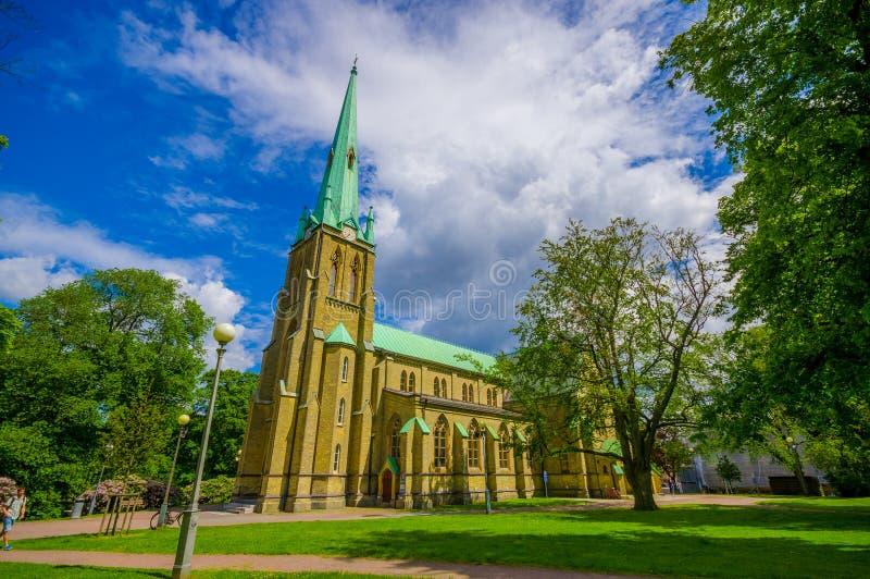 Hagakerk in Gothenburg van de binnenstad royalty-vrije stock foto's