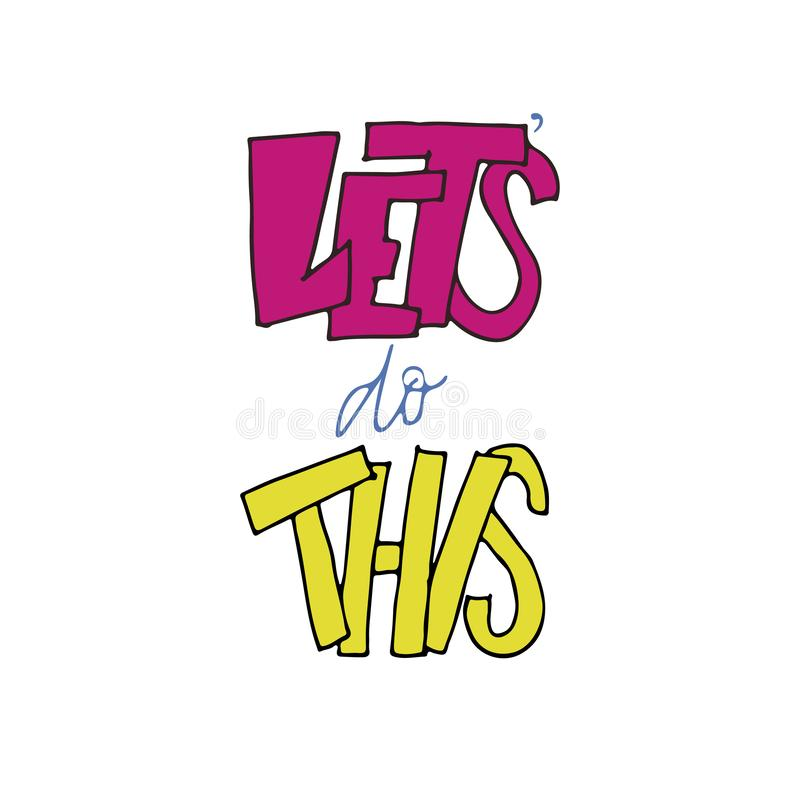 Hagamos esta cita que pone letras Color de rosa y amarillo libre illustration