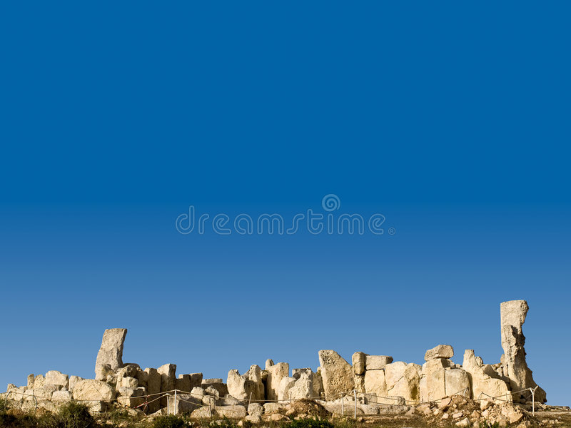 Hagar Qim. The oldest freestanding building in the world - Neolithic temples of Hagar Qim in Malta stock photo