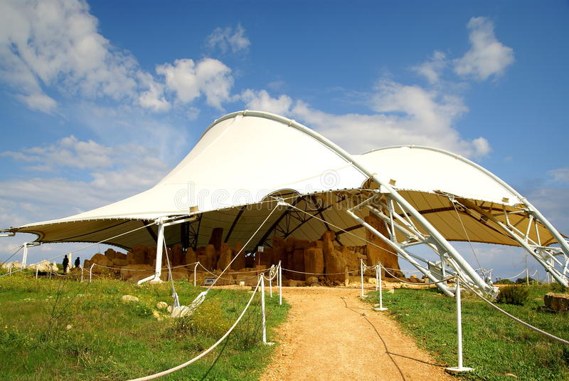 Hagar Qim - megalithic ναός σύνθετος στο νησί της Μάλτας στοκ φωτογραφία με δικαίωμα ελεύθερης χρήσης