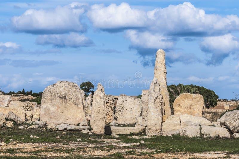 Hagar Qim megalithic tempel i Malta royaltyfri foto
