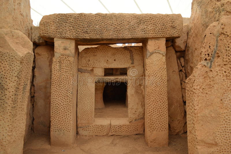 Hagar Qim Neolityczna świątynia obrazy stock