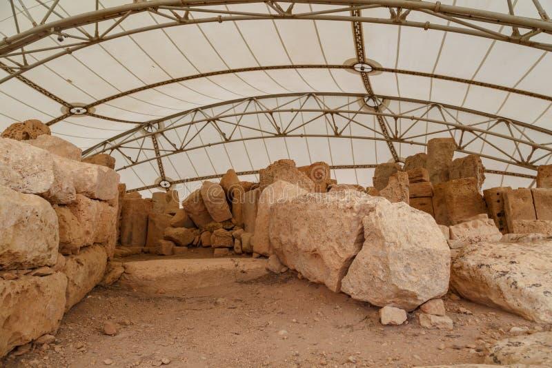 Hagar Qim och Mnajdra tempel royaltyfria bilder
