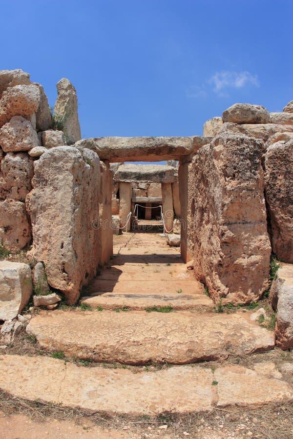 Hagar Qim, património mundial do unesco em Malta imagem de stock