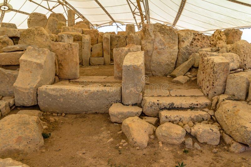 Hagar Qim Temple royaltyfri fotografi