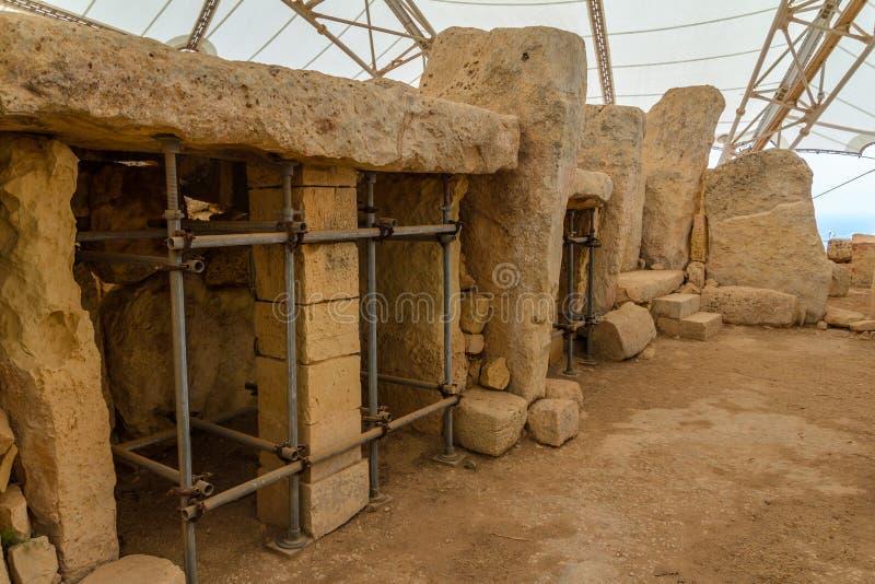 Hagar Qim Temple Columns arkivfoton