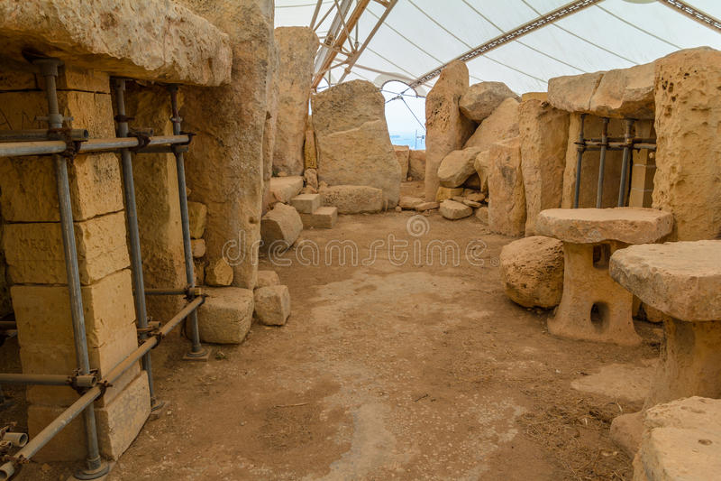 Hagar Qim Temple Remains royalty-vrije stock foto