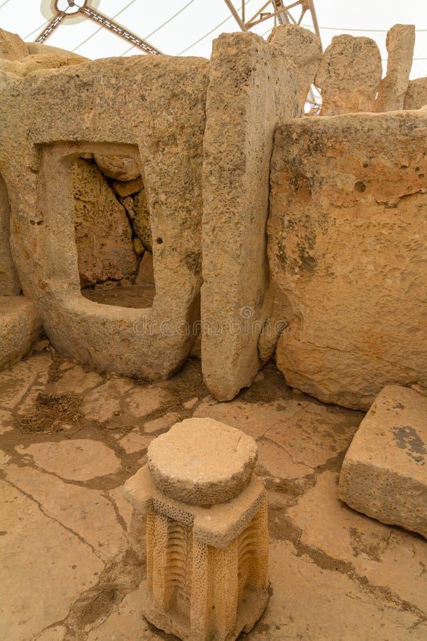 Hagar Qim Temple Rests fotografia de stock
