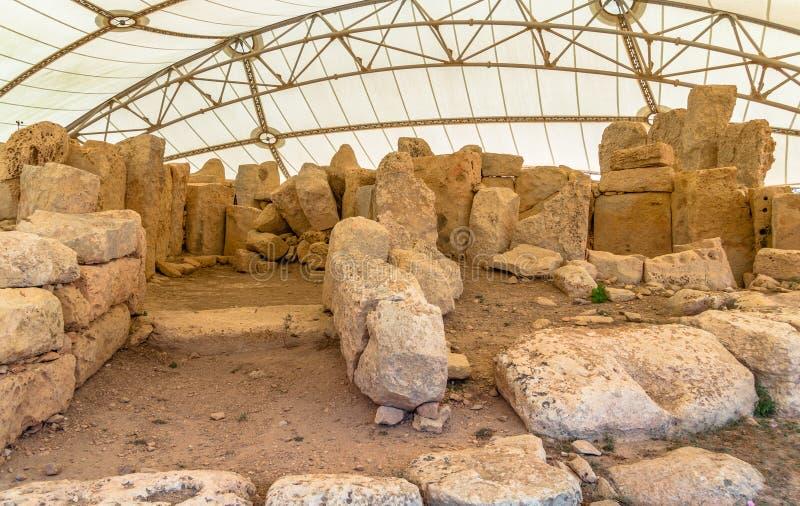 Hagar Qim Temple Rocks royaltyfria bilder