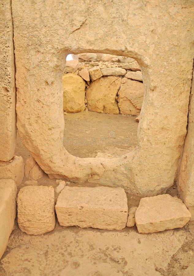 Hagar Qim Temples Malta arkivfoto