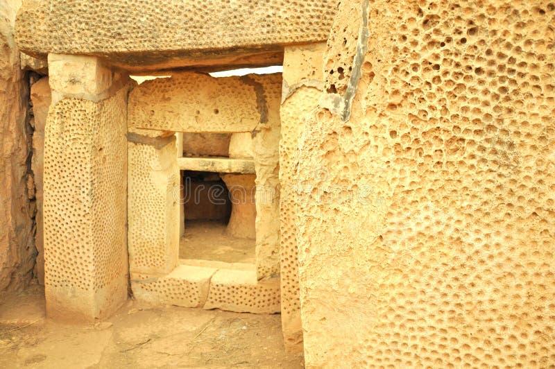 Hagar Qim Temples Malta royaltyfria bilder
