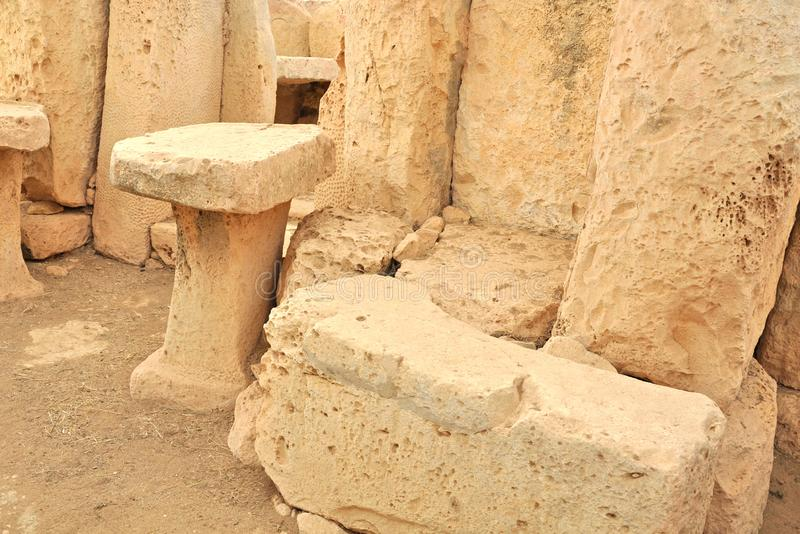 Hagar Qim Temples Malta royaltyfri foto