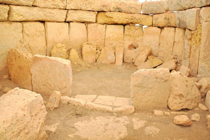 Hagar Qim Temples Malta royaltyfri fotografi
