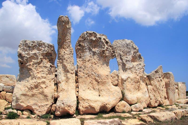 Hagar Qim, templo megalítico antigo de Malta imagens de stock royalty free