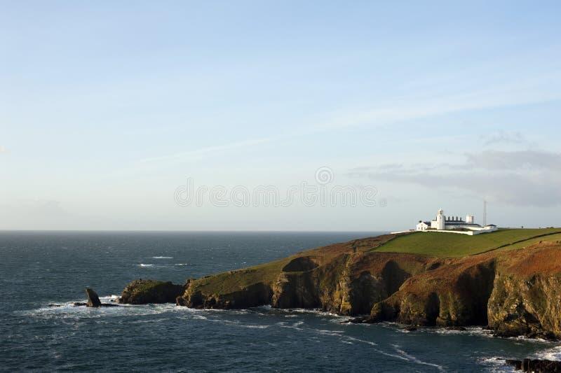 Hagedispunt, Hagedisschiereiland, Cornwall stock fotografie