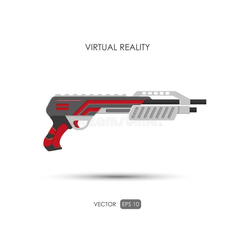 hagelgevär Vapen för virtuell verklighetsystem Videospelvapen vid stock illustrationer