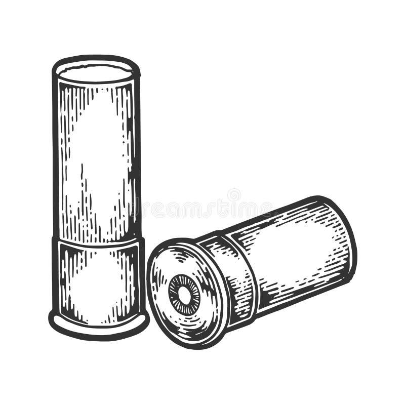 Hagelgevärkassett som inristar vektorillustrationen royaltyfri illustrationer