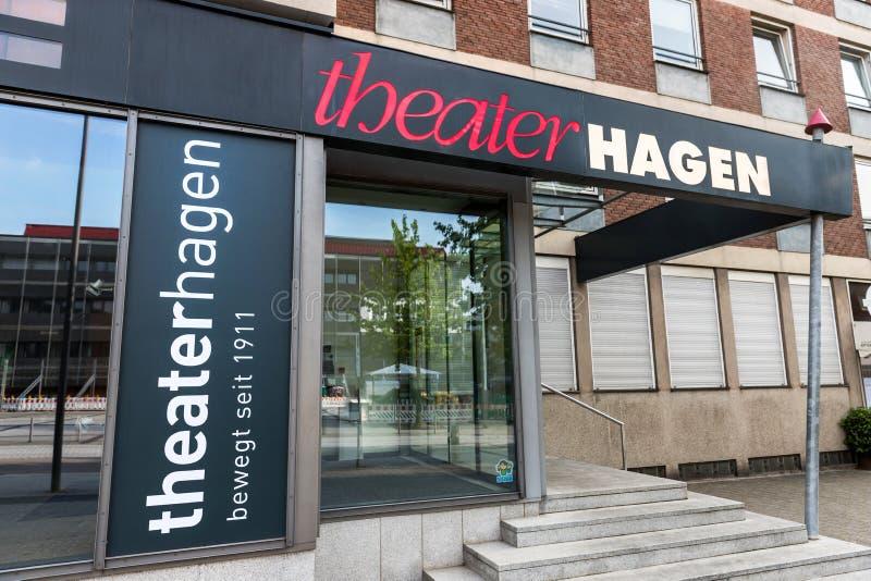Hagen Hagen Hagen de théâtre en Allemagne photo libre de droits