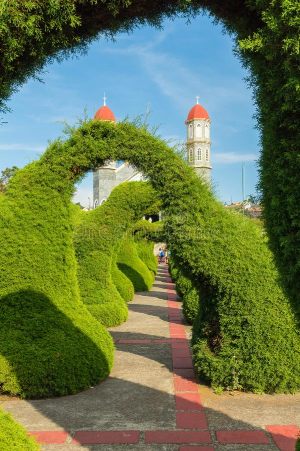Hagen Topiary tuin Zarcero Costa Rica royalty-vrije stock afbeelding