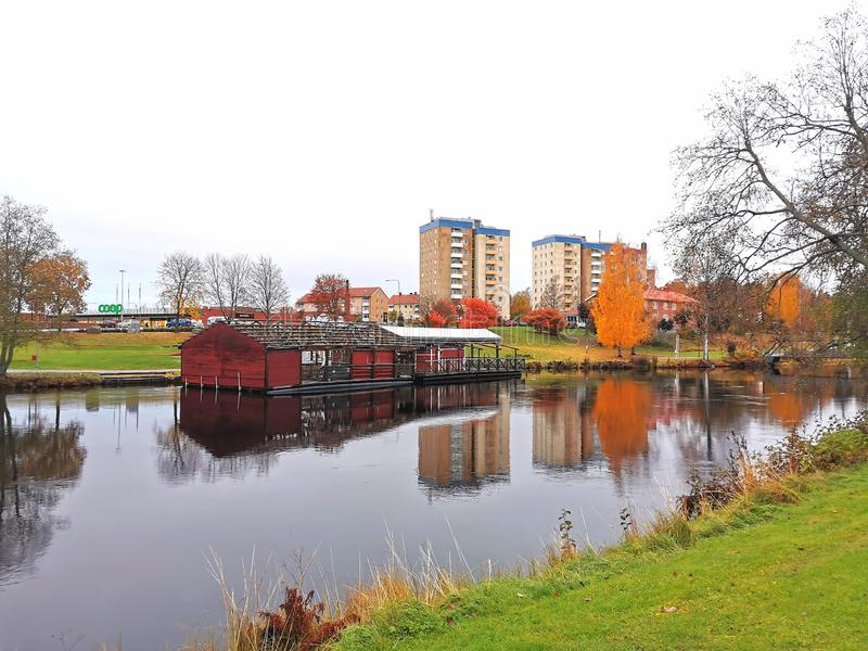 Hagfors in autumn stock images