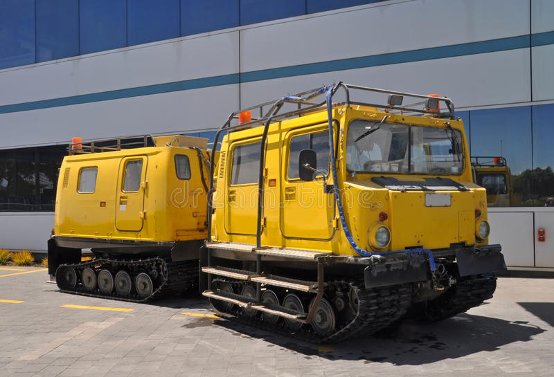 Hagglund outside Christchurch Antarctic Centre