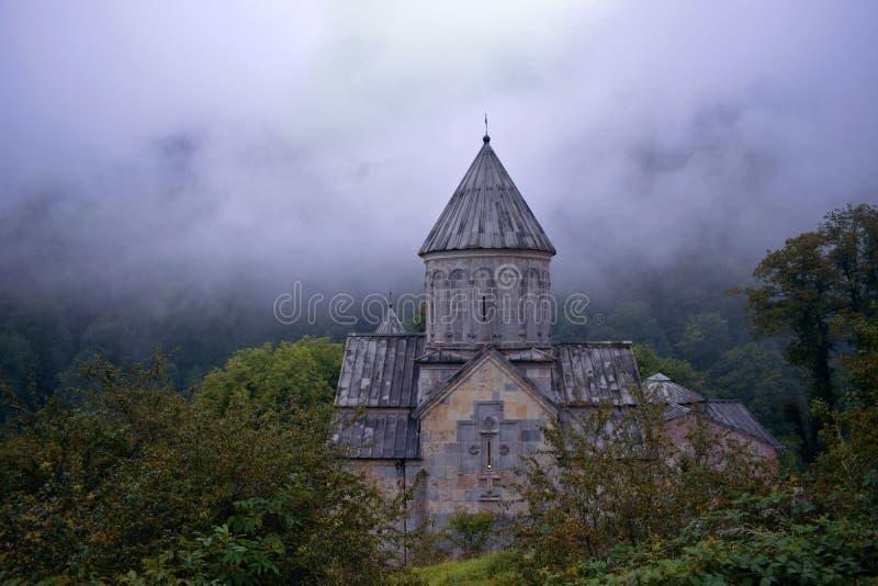 Haghartsinklooster dichtbij de stad van Dilijan in Armenië wordt gevestigd dat stock foto