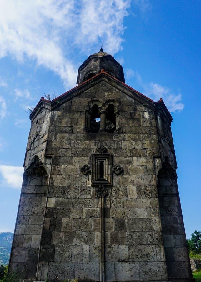 Haghpatavank klosterKlocka torn Front View arkivbilder