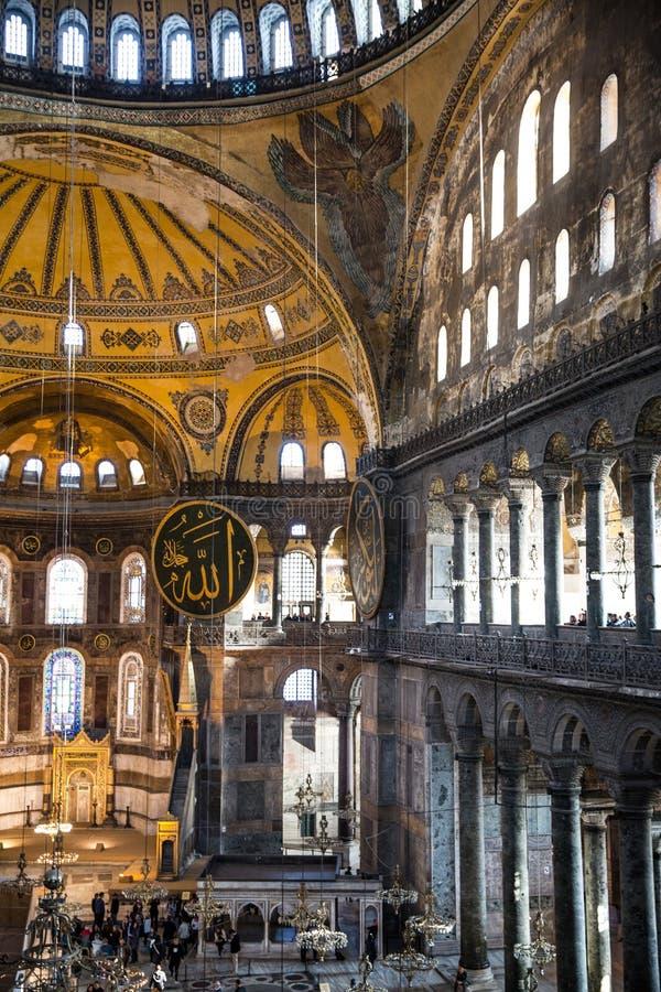 Hagia София внутрь Стамбул, Турция стоковые изображения
