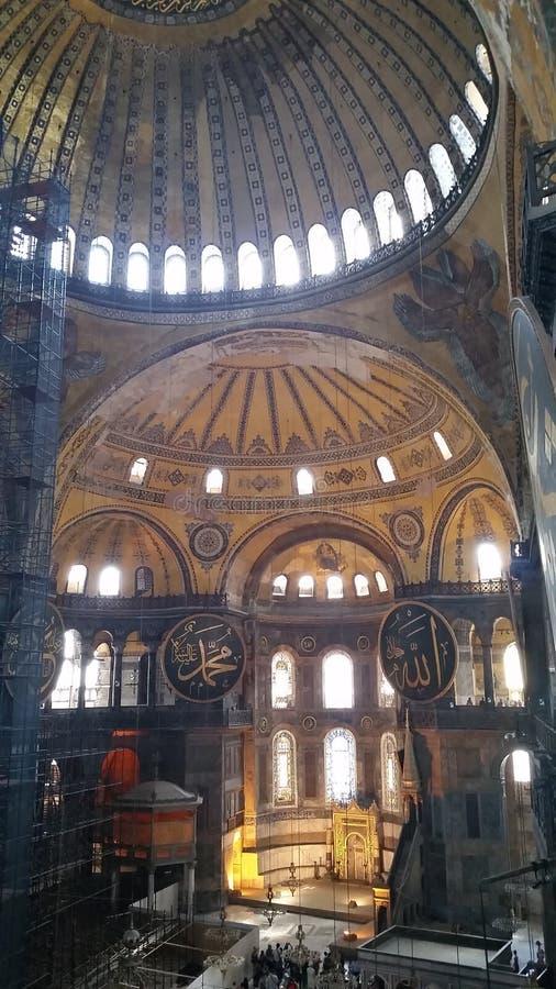 hagia inre istanbul som ber valentinen för s-sophiakalkon royaltyfri fotografi