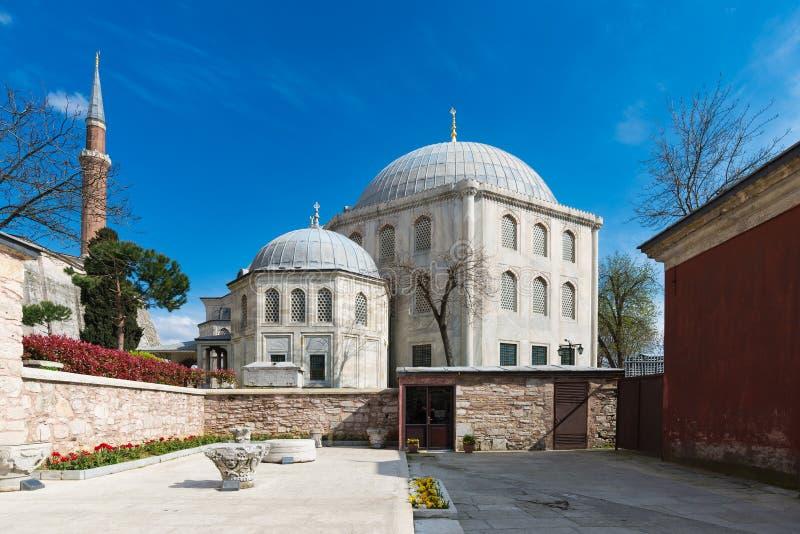 Hagia interno Sofia Mosque Museum o 8 de abril Istambul, Turquia imagens de stock royalty free