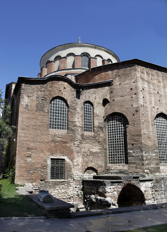 Hagia Irene Church. In Istanbul,Turkey stock image