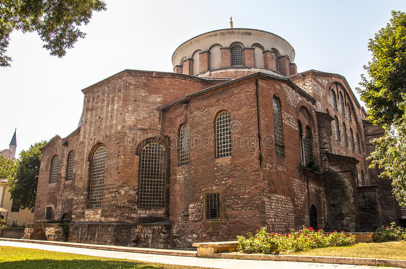 Hagia Irene Church. Aya Irini or Hagia Irene Church / Istanbul / Turkey stock photography