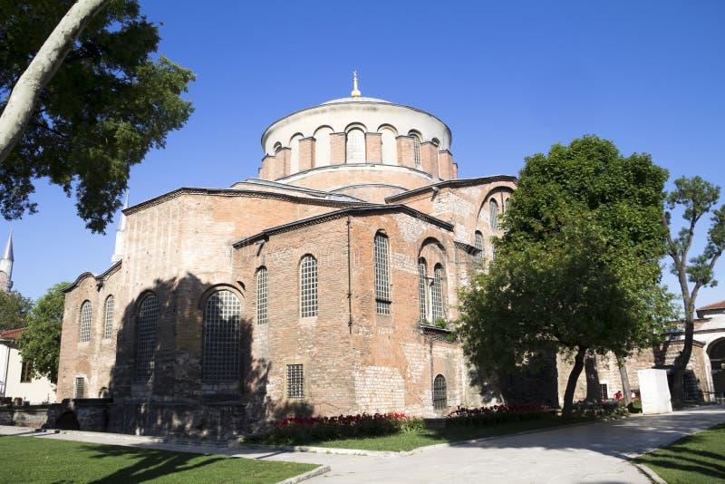 Hagia Irene church. (Aya Irini) in the park of Topkapi Palace in Istanbul, Turkey stock photos