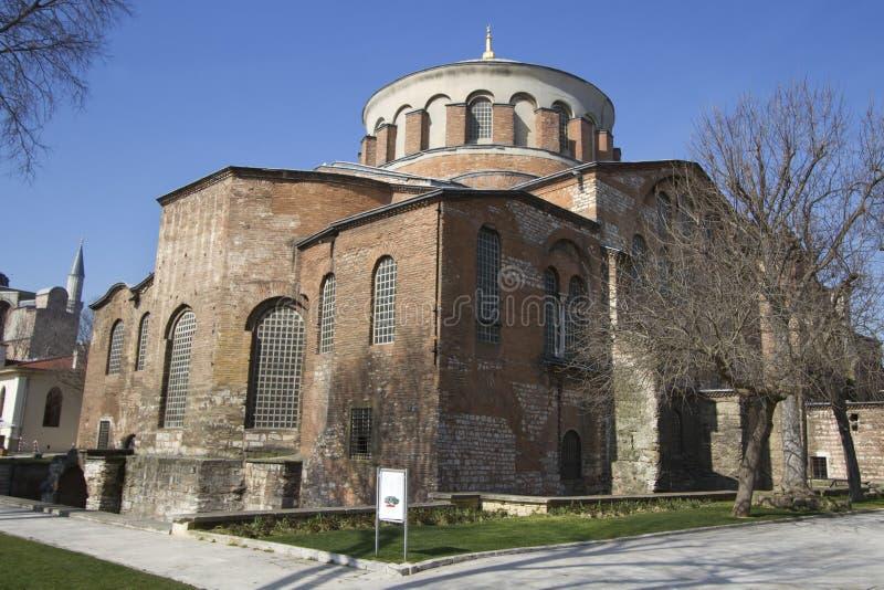 Hagia Irene Church. (Aya Irini) in the park of Topkapi Palace in Istanbul, Turkey royalty free stock images