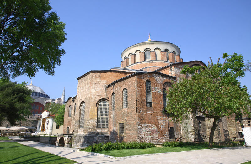 Hagia Irene church in Istanbul. Hagia Irene church (Aya Irini) in the park of Topkapi Palace in Istanbul, Turkey stock photo