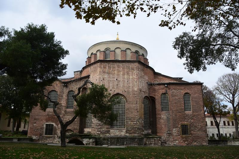 Hagia Irene Church, Istanbul, Turkey. Aya Irini or Hagia Irene Church / Istanbul / Turkey stock photo