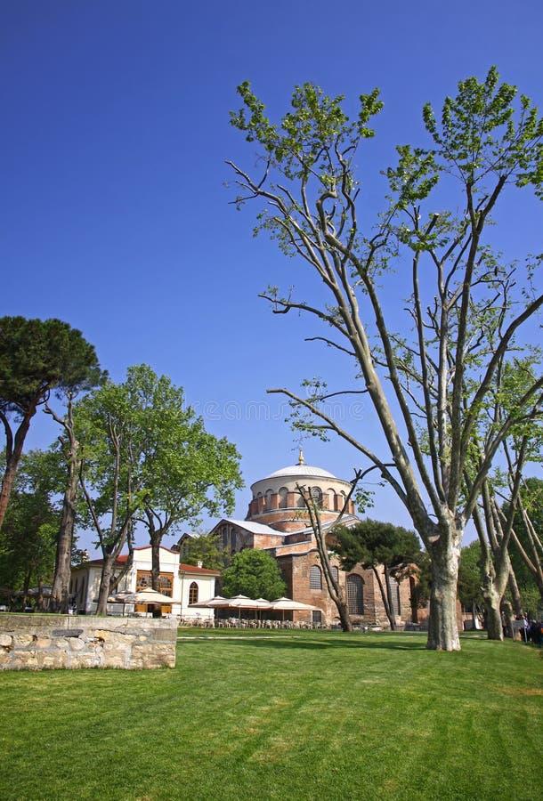 Hagia Irene church in the park of Topkapi Palace in Istanbul. Hagia Irene church (Aya Irini) in the park of Topkapi Palace in Istanbul, Turkey stock photography