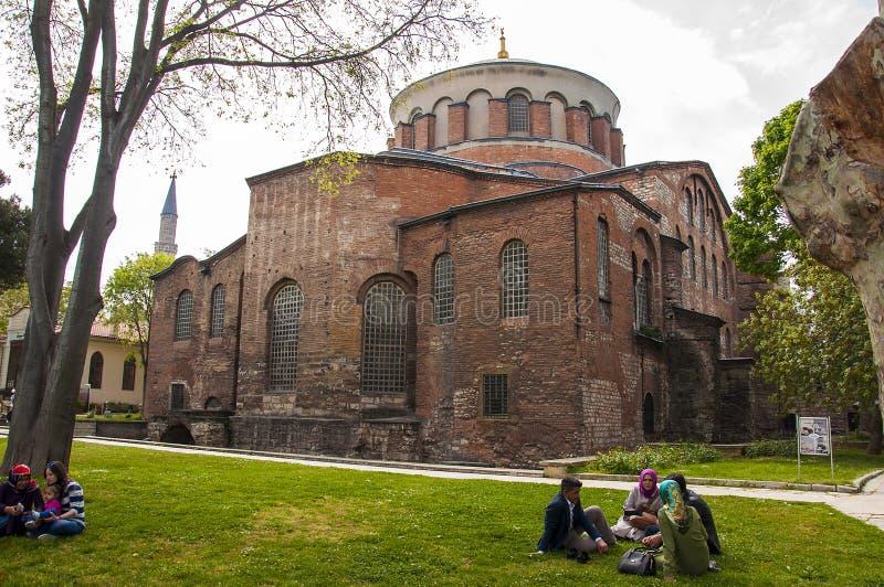 Hagia Irene, en östlig ortodox royaltyfri bild