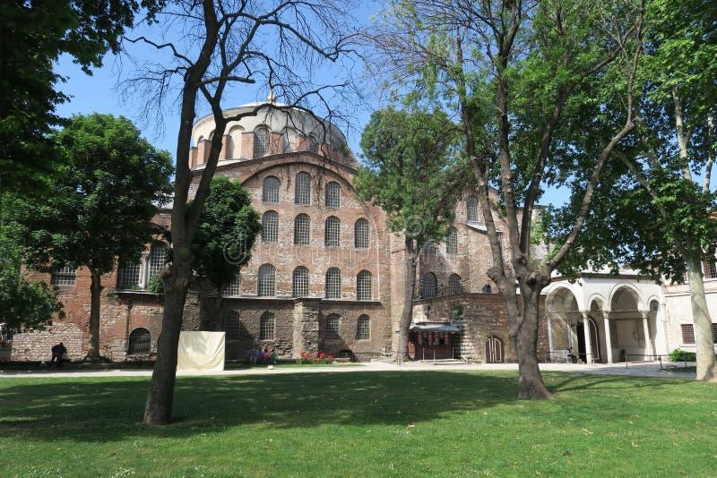Hagia Irene - en tidigare östlig ortodox kyrka i det Topkapi slottkomplexet, Istanbul, Turkiet royaltyfri bild