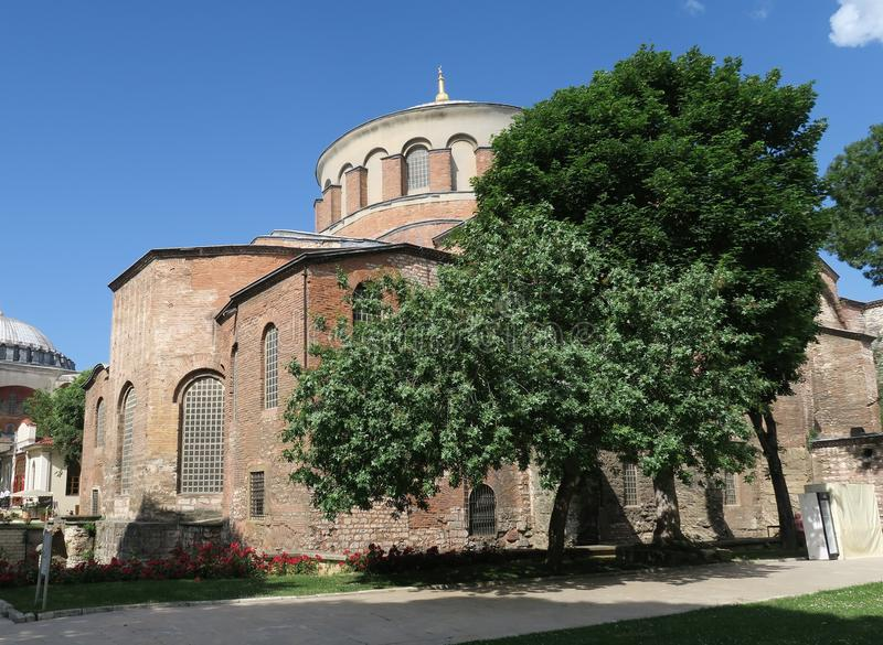 Hagia Irene - a former Eastern Orthodox Church in Topkapi Palace Complex, Istanbul, Turkey. Hagia Irene is a former Eastern Orthodox Church in Topkapi Palace stock images
