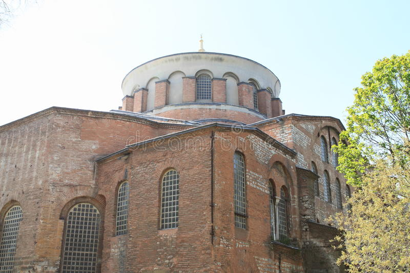 Hagia Irene in Istanbul stock image