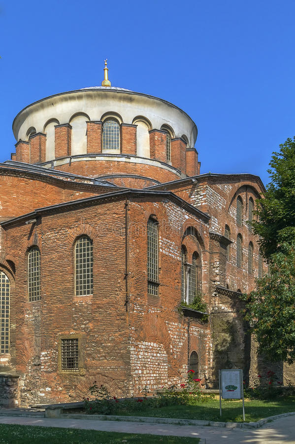 Hagia Irene, Istanbul. Hagia Irene, sometimes known also as Saint Irene, is an Eastern Orthodox church located in the outer courtyard of Topkapi Palace in royalty free stock photo